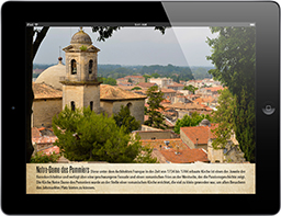 Travel Appetizer App Beaucaire Sehenswürdigkeit Notre Dame Frankreich, gestaltet von Travel Appetizer