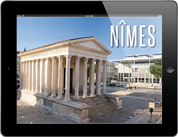 Travel Appetizer App Nimes Frankreich Titel, gestaltet von Travel Appetizer