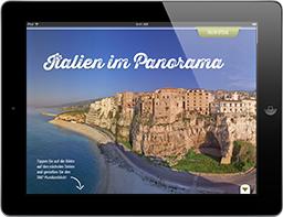 Ambiente Mediterran Italien Panorama 360 Grad, Travel Appetizer App Paket L