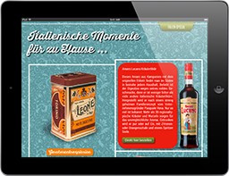 Ambiente Mediterran iPad-Magazin Shoppingseite, Travel Appetizer App Paket L